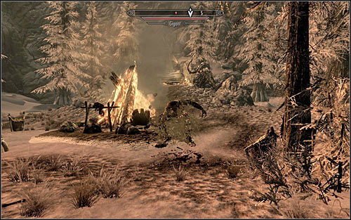 If you refuse to fight the Giant, Yamarz will head to its lair alone and will get killed pretty much at once (screen above) - The Cursed Tribe - p. 2 - Daedric quests - The Elder Scrolls V: Skyrim Game Guide