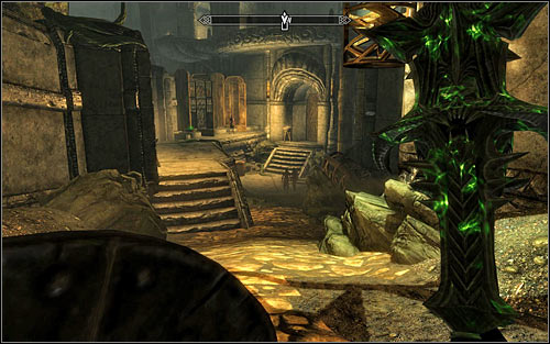Note the corpses that suggest the presence of a trap activated by pushing the pressure plate - The Only Cure - p. 2 - Daedric quests - The Elder Scrolls V: Skyrim Game Guide