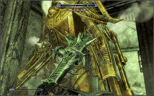 If your character isnt good with ranged attacks, it would be good to help yourself with additional powers or Shouts to slow down or temporarily stop the Centurion - The Only Cure - p. 3 - Daedric quests - The Elder Scrolls V: Skyrim Game Guide