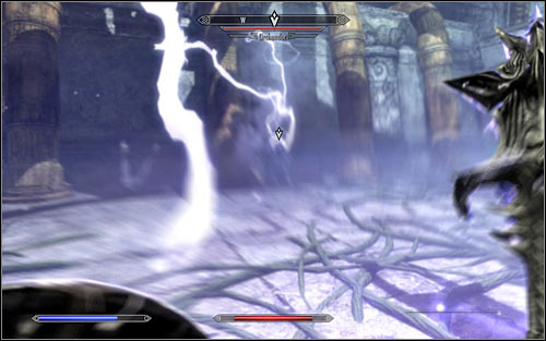 It would be good to start the battle with Orchendor with a surprise attack and unfortunately skills like the Unrelenting Force Shout wont work here, as the boss will defend against any attempts of knocking him down to the ground - The Only Cure - p. 3 - Daedric quests - The Elder Scrolls V: Skyrim Game Guide