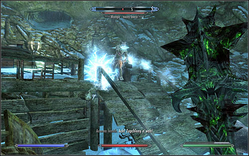 New enemies occupy the next big cavern and as you battle them you should most of all focus on quickly eliminating the Vampire Nightstalker (screen above) - A Daedras Best Friend - p. 1 - Daedric quests - The Elder Scrolls V: Skyrim Game Guide