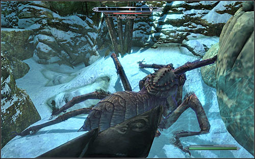 Follow the linear corridors, being ready to fight with Frost Spider (screen above) - A Daedras Best Friend - p. 1 - Daedric quests - The Elder Scrolls V: Skyrim Game Guide