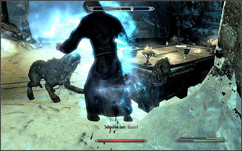 You can wait with attacking Sebastian until Barbas moves in and successfully draws the mages attention away (screen above) - A Daedras Best Friend - p. 2 - Daedric quests - The Elder Scrolls V: Skyrim Game Guide