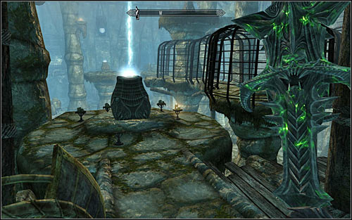 After the fight, use the stairs in the south-east corner of the big room and afterwards turn left, activating the first pedestal (screen above) - The Break of Dawn - p. 2 - Daedric quests - The Elder Scrolls V: Skyrim Game Guide