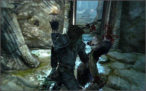 If you prefer close combat, it would be good to wait for the Necromancer to appear in the corridor in which you fought the Shades (screen above) - The Break of Dawn - p. 2 - Daedric quests - The Elder Scrolls V: Skyrim Game Guide