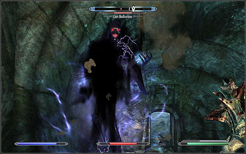 Thats not the end of the battle, as the murdered Necromancer will change into Malkorans Shade (screen above) - The Break of Dawn - p. 2 - Daedric quests - The Elder Scrolls V: Skyrim Game Guide