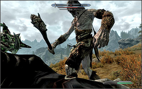 As you reach your destination, it will turn out that Gleda the Goat is being watched by Grok the Giant - A Night to Remember - p. 1 - Daedric quests - The Elder Scrolls V: Skyrim Game Guide