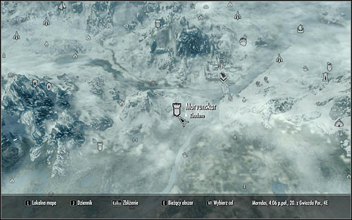 Open the world map - A Night to Remember - p. 2 - Daedric quests - The Elder Scrolls V: Skyrim Game Guide