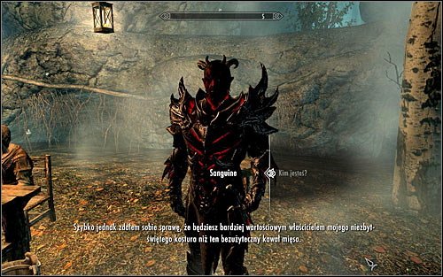 Approach Sam and speak to him to learn that hes really Sanguine, the Daedric Prince of debauchery - A Night to Remember - p. 2 - Daedric quests - The Elder Scrolls V: Skyrim Game Guide