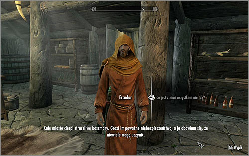 Approach Erandur and speak with him (screen above) - Waking Nightmare - p. 1 - Daedric quests - The Elder Scrolls V: Skyrim Game Guide