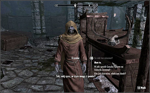 Return to Erandur to give him the book (screen above) - Waking Nightmare - p. 1 - Daedric quests - The Elder Scrolls V: Skyrim Game Guide