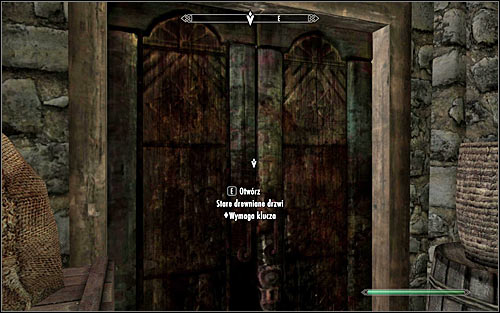 Go through a couple narrow corridors, eventually reaching an old wooden door (screen above) - The Whispering Door - Daedric quests - The Elder Scrolls V: Skyrim - Game Guide and Walkthrough