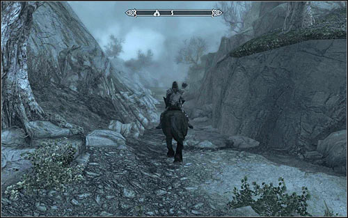Id recommend getting off the main track only after finding yourself more or less in a straight line from the Dead Crone Rock - Pieces of the Past - p. 2 - Daedric quests - The Elder Scrolls V: Skyrim Game Guide