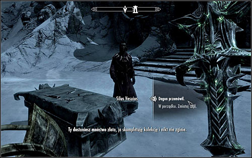 Wait Silus to tell you his plan and state that you need to follow Dagons will, by choosing the upper dialogue option (screen above) - Pieces of the Past - p. 3 - Daedric quests - The Elder Scrolls V: Skyrim Game Guide
