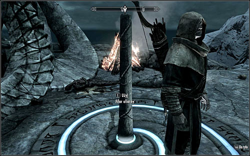 Approach the pillar (screen above) and press E to make your companion approach it as well - Boethiah's Calling - p. 1 - Daedric quests - The Elder Scrolls V: Skyrim - Game Guide and Walkthrough