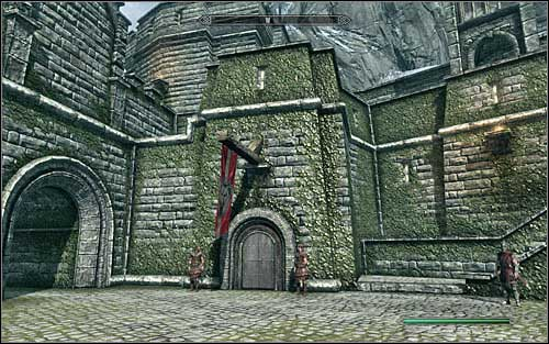 Go to the north part of the city and locate the entrance to Castle Dour, which is guarded by two sentries (the above screen) - Joining the Legion | Imperial Legion Quests - Imperial Legion Quests - The Elder Scrolls V: Skyrim Game Guide