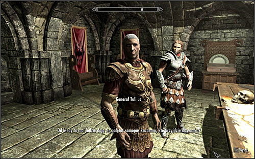Go to the war room where all of the most important persons in the Imperial Legion are gathered - Joining the Legion | Imperial Legion Quests - Imperial Legion Quests - The Elder Scrolls V: Skyrim Game Guide