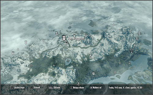 Open the world map and locate Fort Hraggstad (the above screen) - Joining the Legion | Imperial Legion Quests - Imperial Legion Quests - The Elder Scrolls V: Skyrim Game Guide