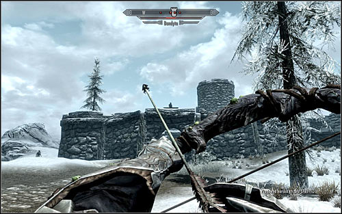 If your character is an archer or a mage, then its better to attack the foes from a distance, and I suggest taking care of archers on the upper walls first (the above screen) - Joining the Legion | Imperial Legion Quests - Imperial Legion Quests - The Elder Scrolls V: Skyrim Game Guide