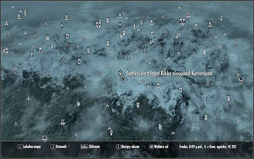 Leave the castle and open the world map - The Jagged Crown - p.1 | Imperial Legion Quests - Imperial Legion Quests - The Elder Scrolls V: Skyrim Game Guide