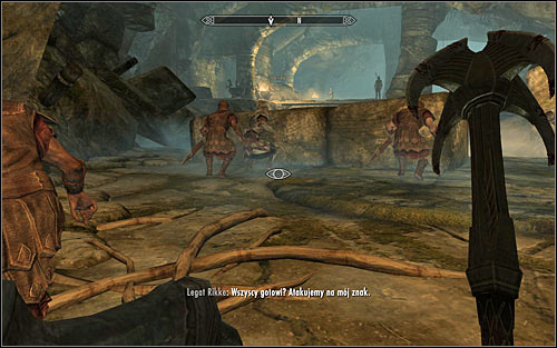 Inside, crouch and join the other Legionnaires (the above screen) until Legate Rikke gives the command to attack the Stormcloak soldiers - The Jagged Crown - p.1 | Imperial Legion Quests - Imperial Legion Quests - The Elder Scrolls V: Skyrim Game Guide
