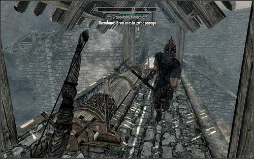 Whats important, the foes will prove their wits and some of them might want to use the upper path to get to the mechanism lowering the drawbridge (the above screen) - Battle for Whiterun | Imperial Legion Quests - Imperial Legion Quests - The Elder Scrolls V: Skyrim Game Guide