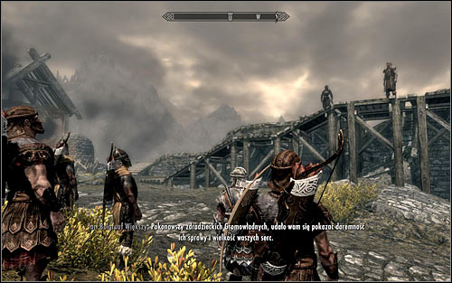 Go back to the drawbridge and listen to Jarl Balgruufs speech (the above screen), thanking everyone gathered here for their sacrificial fight - Battle for Whiterun | Imperial Legion Quests - Imperial Legion Quests - The Elder Scrolls V: Skyrim Game Guide