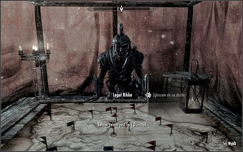 You can proceed with the completion of the current quest once you finish A False Front - Reunification of Skyrim - p.1 | Imperial Legion Quests - Imperial Legion Quests - The Elder Scrolls V: Skyrim Game Guide