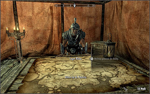 Be careful, because you can be attacked by wild animals on the way to the camp - Reunification of Skyrim - p.1 | Imperial Legion Quests - Imperial Legion Quests - The Elder Scrolls V: Skyrim Game Guide