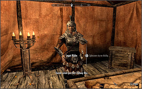 You can proceed with the completion of the current quest once you finish Compelling Tribute - Reunification of Skyrim - p.1 | Imperial Legion Quests - Imperial Legion Quests - The Elder Scrolls V: Skyrim Game Guide