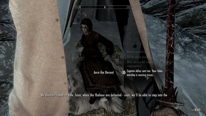 Speak with Talos worshipers about their situation - A Delicate Situation | Quests in the game - Quests in the game - The Elder Scrolls V: Skyrim Game Guide