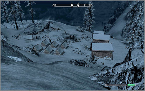 The camp youre looking for is situated high in the mountains, so consider travelling by horse - Reunification of Skyrim - p.2 | Imperial Legion Quests - Imperial Legion Quests - The Elder Scrolls V: Skyrim Game Guide