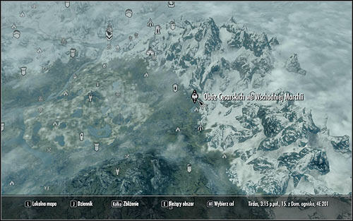 Leave the castle and open the world map - Reunification of Skyrim - p.2 | Imperial Legion Quests - Imperial Legion Quests - The Elder Scrolls V: Skyrim Game Guide
