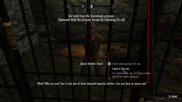 The second variant is to help the Stormcloack agent - A Stormcloack in Chains | Quests in the game - Quests in the game - The Elder Scrolls V: Skyrim Game Guide