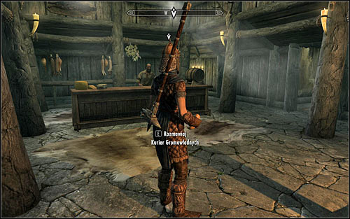 If you failed to persuade either of the innkeepers to tell you anything the courier, or you simply want to avoid bloodshed, you can stay at the inn, fast forward time and wait for the Stormcloak Courier to arrive (the above screen) - A False Front | Imperial Legion Quests - Imperial Legion Quests - The Elder Scrolls V: Skyrim Game Guide