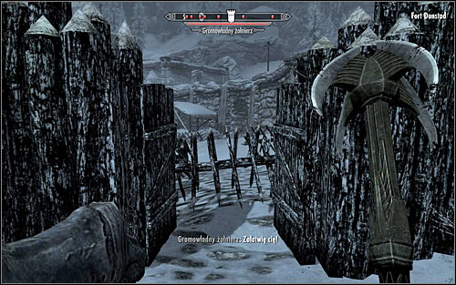 Basically, there are two ways to enter the fort - Battle for Fort Dunstad | Imperial Legion Quests - Imperial Legion Quests - The Elder Scrolls V: Skyrim Game Guide
