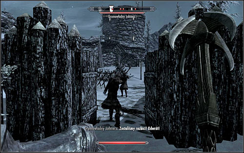 The second way is the south entrance (the above screen), which is not only weakly guarded, but there also no barricades - Battle for Fort Dunstad | Imperial Legion Quests - Imperial Legion Quests - The Elder Scrolls V: Skyrim Game Guide