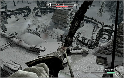Depending on preferences, you can attack enemies from low elevation or climb one of the taller towers, so that you have a view on the better part of the fort (the above screen) - Battle for Fort Dunstad | Imperial Legion Quests - Imperial Legion Quests - The Elder Scrolls V: Skyrim Game Guide