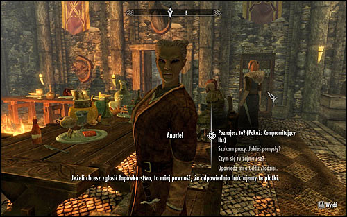 Find Anuriel in the main hall of Mistveil Keep (the above screen) - Compelling Tribute | Imperial Legion Quests - Imperial Legion Quests - The Elder Scrolls V: Skyrim Game Guide