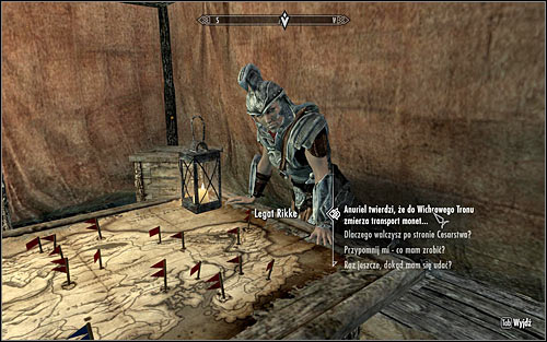 Leave Mistveil Keep, open the world map and travel to the recently visited Rift Imperial Camp - Compelling Tribute | Imperial Legion Quests - Imperial Legion Quests - The Elder Scrolls V: Skyrim Game Guide