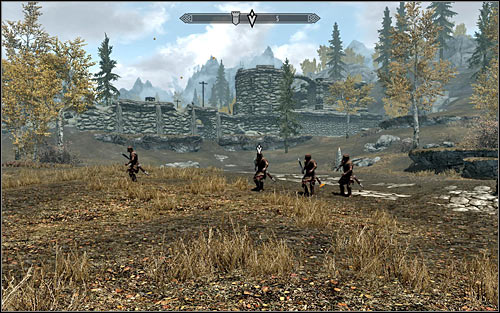 This time, you dont have to look around for the other participants of the battle, because they are waiting out in the open for you to join them (the above screen) - The Battle for Fort Greenwall | Imperial Legion Quests - Imperial Legion Quests - The Elder Scrolls V: Skyrim Game Guide