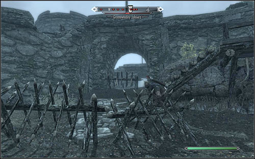 The second way inside is the northwest entrance (the above screen) - The Battle for Fort Greenwall | Imperial Legion Quests - Imperial Legion Quests - The Elder Scrolls V: Skyrim Game Guide