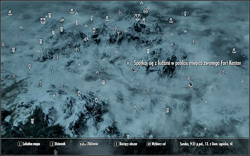 Youll see on the world map that the scouts have placed themselves at some distance from Fort Kastav (the above screen) - Rescue from Fort Kastav | Imperial Legion Quests - Imperial Legion Quests - The Elder Scrolls V: Skyrim Game Guide