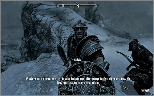 When you meet them, talk to the scouts commander, Hadvar (the above screen) - Rescue from Fort Kastav | Imperial Legion Quests - Imperial Legion Quests - The Elder Scrolls V: Skyrim Game Guide