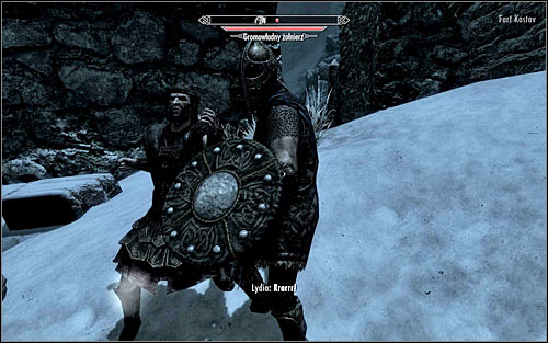 If your character specializes in close combat, you can attack the Stormcloak soldiers at once - Rescue from Fort Kastav | Imperial Legion Quests - Imperial Legion Quests - The Elder Scrolls V: Skyrim Game Guide