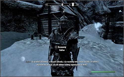 Find Hadvar, who, depending of how well you dealt with the foe, can be inside the fort or on his way to it - Rescue from Fort Kastav | Imperial Legion Quests - Imperial Legion Quests - The Elder Scrolls V: Skyrim Game Guide