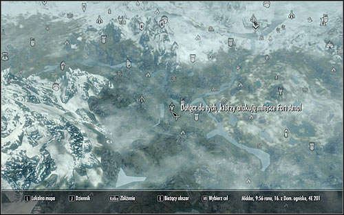 Start by opening the map - The Battle for Fort Amol | Imperial Legion Quests - Imperial Legion Quests - The Elder Scrolls V: Skyrim Game Guide