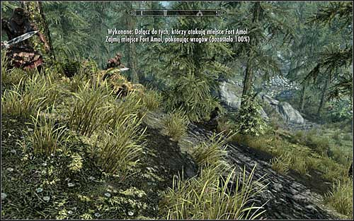 Surprisingly, the Legionnaires are hiding in the forest (the above screen), so its possible you miss them at first - The Battle for Fort Amol | Imperial Legion Quests - Imperial Legion Quests - The Elder Scrolls V: Skyrim Game Guide