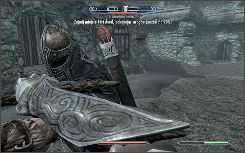If your character prefers close combat, you can attack the Stormcloak soldiers once youre in the courtyard (the above screen) - The Battle for Fort Amol | Imperial Legion Quests - Imperial Legion Quests - The Elder Scrolls V: Skyrim Game Guide