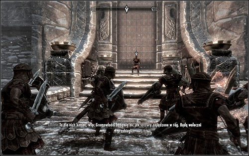 When you get there, go north, toward Windhelm's main gate - Battle for Windhelm - Imperial Legion Quests - The Elder Scrolls V: Skyrim - Game Guide and Walkthrough
